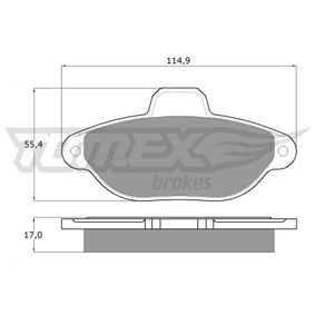 TOMEX brakes Brake pad set TX 12-41