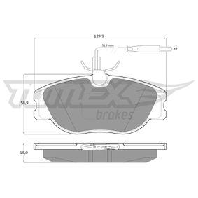 TOMEX brakes Pastilla de freno TX 12-442