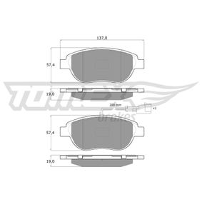 TOMEX brakes Bremsbelagsatz, Scheibenbremse (TX 12-49) niedriger Preis