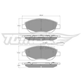 Bremsbelagsatz, Scheibenbremse TOMEX brakes Art.No - TX 12-50 kaufen