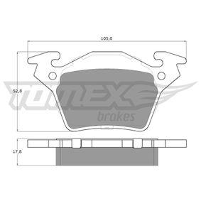 Bremsbelagsatz, Scheibenbremse TOMEX brakes Art.No - TX 12-89 OEM: A0004214210 für MERCEDES-BENZ kaufen