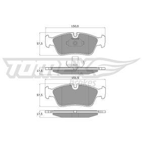 Bremsbelagsatz, Scheibenbremse TOMEX brakes Art.No - TX 13-16 OEM: 34212157575 für BMW kaufen