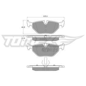 Bremsbelagsatz, Scheibenbremse TOMEX brakes Art.No - TX 13-17 OEM: 34212157574 für BMW, ROVER kaufen