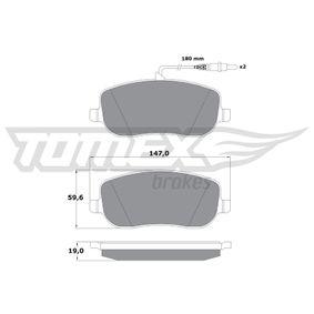Bremsbelagsatz, Scheibenbremse TOMEX brakes Art.No - TX 13-34 OEM: 77362236 für FIAT, CITROЁN, ALFA ROMEO, LANCIA, FSO kaufen