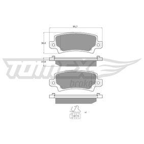 Bremsbelagsatz, Scheibenbremse TOMEX brakes Art.No - TX 13-75 kaufen