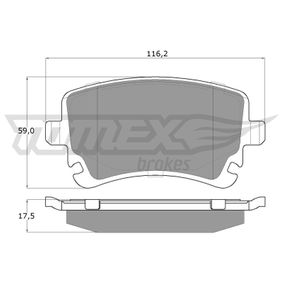 Bremsbelagsatz, Scheibenbremse TOMEX brakes Art.No - TX 13-961 OEM: 4B3698451A für VW, AUDI, SKODA, SEAT kaufen