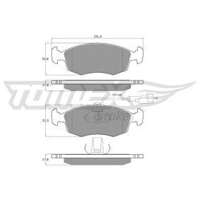 Bremsbelagsatz, Scheibenbremse TOMEX brakes Art.No - TX 14-11 OEM: 9948870 für FIAT, ALFA ROMEO, LANCIA kaufen