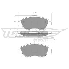 Bremsbelagsatz, Scheibenbremse TOMEX brakes Art.No - TX 14-42 OEM: 77364477 für OPEL, FIAT, ALFA ROMEO, LANCIA, ABARTH kaufen