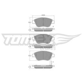 Bremsbelagsatz, Scheibenbremse TOMEX brakes Art.No - TX 15-20 OEM: 77364517 für FIAT, ALFA ROMEO, LANCIA, ABARTH kaufen