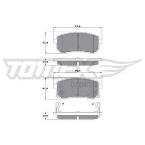 TOMEX brakes Pastilla de freno TX 15-80