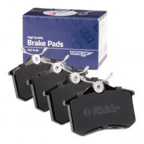1J0698451H für VW, AUDI, FORD, SKODA, SEAT, Bremsbelagsatz, Scheibenbremse TOMEX brakes (TX 16-24) Online-Shop