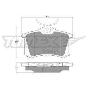 TOMEX brakes Bremsbelagsatz, Scheibenbremse (TX 16-24) niedriger Preis