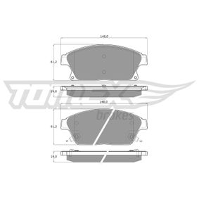 Bremsbelagsatz, Scheibenbremse TOMEX brakes Art.No - TX 16-51 OEM: 1605135 für OPEL, FORD, SKODA, CHEVROLET, SAAB kaufen