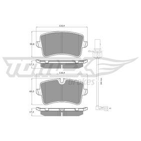 Kit de plaquettes de frein, frein à disque TOMEX brakes Art.No - TX 16-81 OEM: 4H0698451A pour VOLKSWAGEN, AUDI, SEAT, SKODA, PORSCHE récuperer