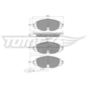 Kit de plaquettes de frein, frein à disque TOMEX brakes Art.No - TX 16-97 OEM: 8V0698151D pour VOLKSWAGEN, AUDI, SEAT, SKODA récuperer