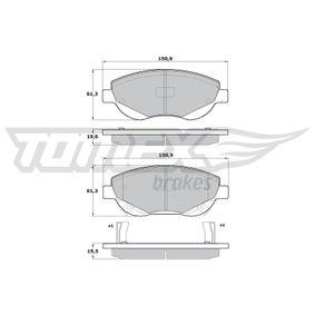Bremsbelagsatz, Scheibenbremse TOMEX brakes Art.No - TX 17-20 OEM: 24946 für PEUGEOT, CITROЁN kaufen