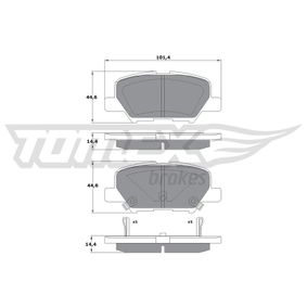 TOMEX brakes Pastilla de freno TX 17-30