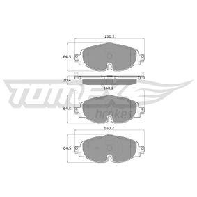 Kit de plaquettes de frein, frein à disque TOMEX brakes Art.No - TX 18-05 OEM: 5Q0698151D pour VOLKSWAGEN, AUDI, SEAT, SKODA récuperer