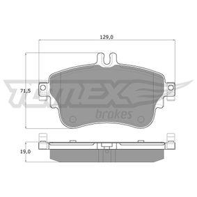 Bremsbelagsatz, Scheibenbremse TOMEX brakes Art.No - TX 18-07 OEM: A0084200420 für MERCEDES-BENZ kaufen