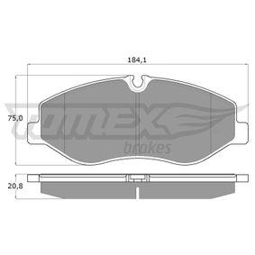 Bremsbelagsatz, Scheibenbremse TOMEX brakes Art.No - TX 18-12 OEM: 4474200220 für MERCEDES-BENZ kaufen