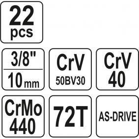 YATO Steckschlüsselsatz (YT-38561) niedriger Preis