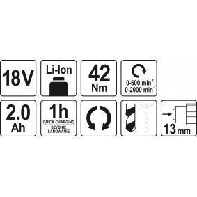 YATO Aparafusadora eléctrica sem fio YT-82794 loja online