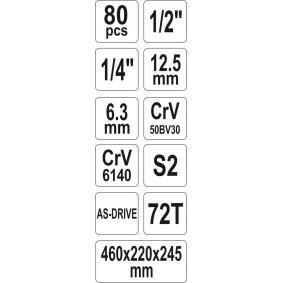 Kit de herramientas de YATO YT-38951 en línea