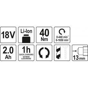 YATO Destornillador a batería YT-82782 tienda online