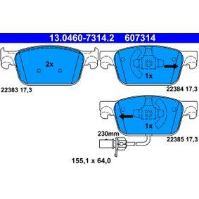 ATE Kit de plaquettes de frein, frein à disque 13.0460-7314.2