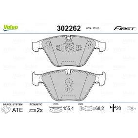 Bremsbelagsatz, Scheibenbremse VALEO Art.No - 302262 OEM: 34112288858 für BMW kaufen