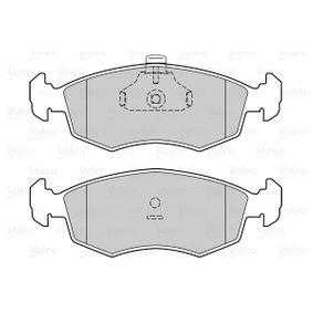 VALEO Bremsbelagsatz, Scheibenbremse 9949125 für FIAT, SEAT, ALFA ROMEO, LANCIA bestellen