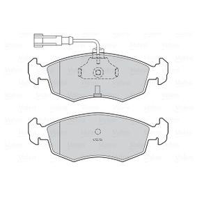 VALEO Bremsbelagsatz, Scheibenbremse 71738152 für FIAT, ALFA ROMEO, LANCIA bestellen