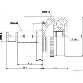 Gelenksatz, Antriebswelle HERTH+BUSS JAKOPARTS Art.No - J2824136 OEM: 44014S0AJ51 für HONDA kaufen