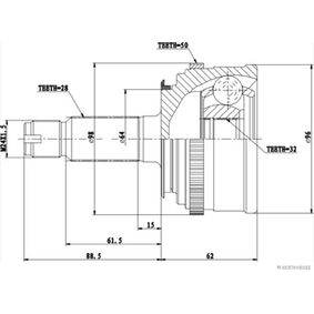 HERTH+BUSS JAKOPARTS Gelenksatz, Antriebswelle 44014S0AJ51 für HONDA bestellen