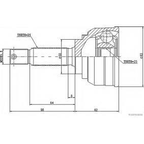 HERTH+BUSS JAKOPARTS Gelenksatz, Antriebswelle 495012D012 für HYUNDAI, KIA bestellen