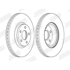 Bremsscheibe JURID Art.No - 562624JC-1 OEM: 7G911125EA für FORD, NISSAN, FORD USA kaufen