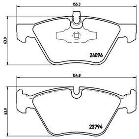 Bremsbelagsatz, Scheibenbremse BREMBO Art.No - P 06 040X OEM: 34116797859 für BMW kaufen