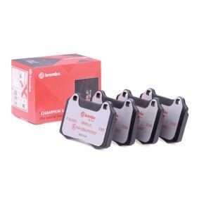 Bremsbelagsatz, Scheibenbremse BREMBO Art.No - P 36 020X OEM: MXD2750AA für VW, PEUGEOT, SEAT, CITROЁN, VOLVO kaufen