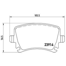BREMBO Bremsbelagsatz, Scheibenbremse (P 85 073X) niedriger Preis