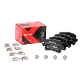 3C0698451F für VW, AUDI, SKODA, SEAT, PORSCHE, Bremsbelagsatz, Scheibenbremse BREMBO (P 85 109X) Online-Shop