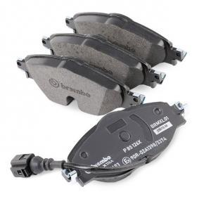BREMBO P 85 126X Kit de plaquettes de frein, frein à disque OEM - 5Q0698151B AUDI, SEAT, SKODA, VW, VAG, OEMparts à bon prix