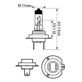 12643LLC1 Крушка с нагреваема жичка, фар за дълги светлини от PHILIPS качествени части