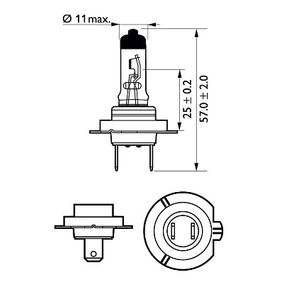 Ampoule, projecteur longue portée PHILIPS Art.No - 12972XVGB1 OEM: 10044613 pour récuperer