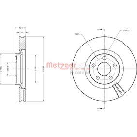 Bremsscheibe METZGER Art.No - 6110823 OEM: 5312312 für FORD, FORD USA kaufen