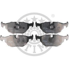 Bremsbelagsatz, Scheibenbremse OPTIMAL Art.No - BP-09945 OEM: 34216761238 für BMW, ROVER kaufen