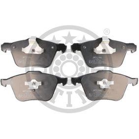 Bremsbelagsatz, Scheibenbremse OPTIMAL Art.No - BP-12142 OEM: 274285 für AUDI, VOLVO, SATURN kaufen