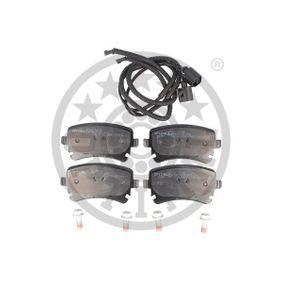 Bremsbelagsatz, Scheibenbremse OPTIMAL Art.No - BP-12240 OEM: 3D0698451 für VW, AUDI, SKODA, SEAT kaufen