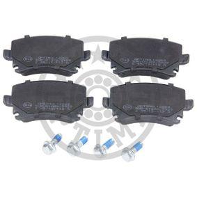 Bremsbelagsatz, Scheibenbremse OPTIMAL Art.No - BP-12263 OEM: 4F0698451D für VW, AUDI, SKODA, SEAT, HONDA kaufen