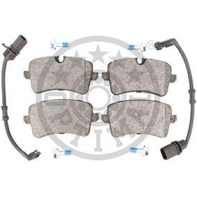 OPTIMAL Kit de plaquettes de frein, frein à disque 4G0698451A pour VOLKSWAGEN, AUDI, SEAT, SKODA, PORSCHE acheter