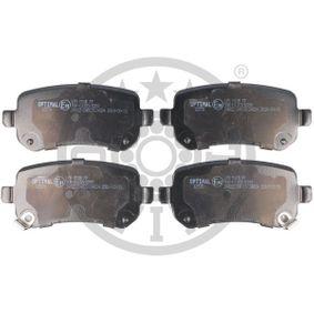Bremsbelagsatz, Scheibenbremse OPTIMAL Art.No - BP-12570 OEM: 68029887AB für FIAT, ALFA ROMEO, JEEP, CHRYSLER, DODGE kaufen